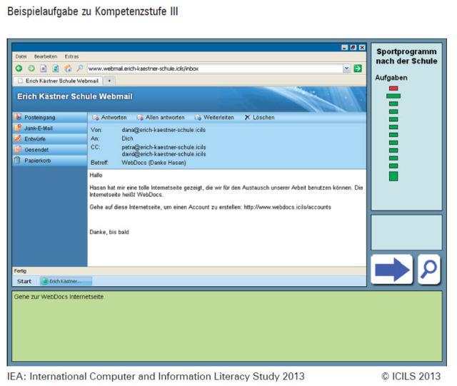 ICILS 2013 Beispielaufgabe